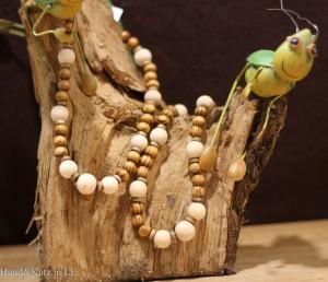 Kette Woody aus unbehandelten Holzperlen